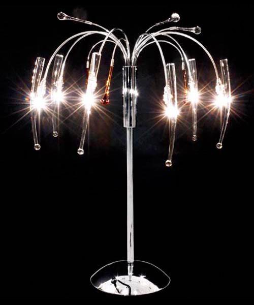 ΦΩΤΙΣΤΙΚΟ ΕΠΙΤΡΑΠΕΖΙΟ ΛΑΜΠΑ CLEAR/AMBER GLASS CROMO